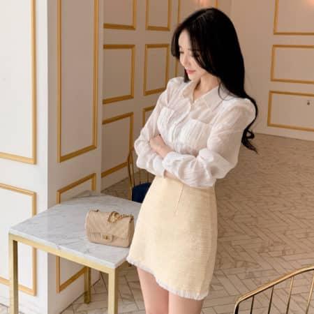 Chân váy Tweed ngắn xinh xắn - F1000CVN - Ảnh 2