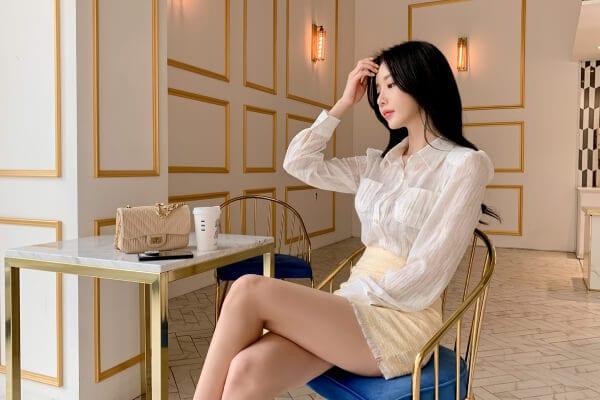 Chân váy Tweed ngắn xinh xắn - F1000CVN - Ảnh 4