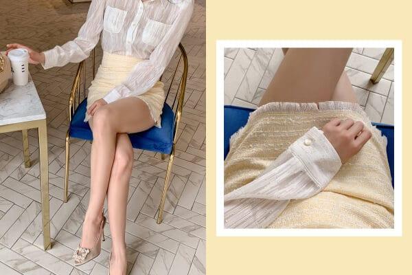 Chân váy Tweed ngắn xinh xắn - F1000CVN - Ảnh 5