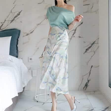 Chân váy hoa dáng suông form rộng - F1001CVD - Ảnh 1