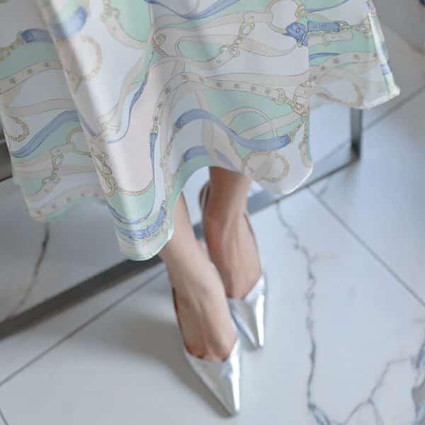 Chân váy hoa dáng suông form rộng - F1001CVD - Ảnh 3