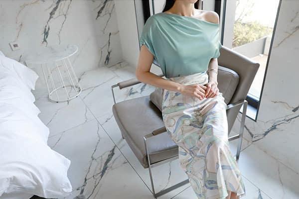 Chân váy hoa dáng suông form rộng - F1001CVD - Ảnh 5