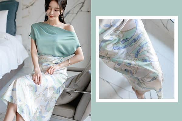 Chân váy hoa dáng suông form rộng - F1001CVD - Ảnh 6