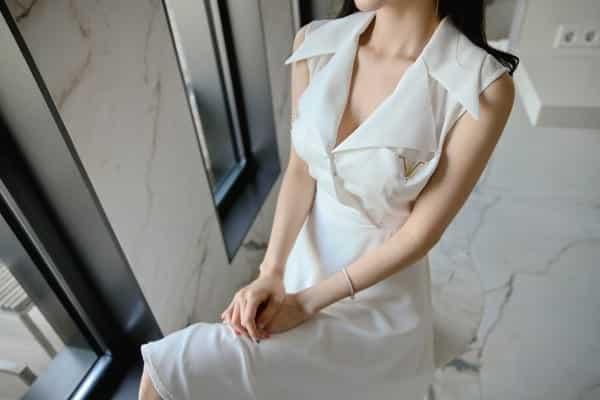Đầm sơ mi cổ vest không tay - F1001DX - Ảnh 5