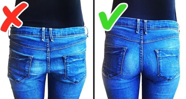 Quần jeans không vừa khít