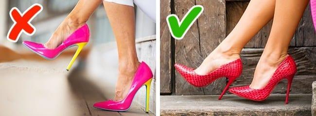 Đi giày cao gót rộng hơn chân