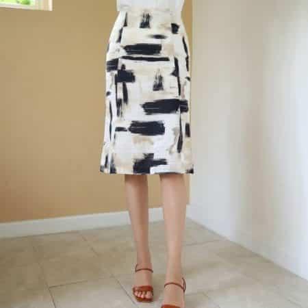 Chân váy suông họa tiết - F1008CVN - Ảnh 2
