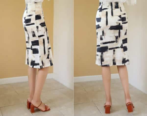 Chân váy suông họa tiết - F1008CVN - Ảnh 5