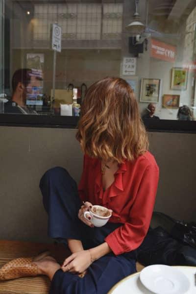 Quần âu + Áo blouse
