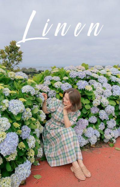 Váy caro xanh tay phồng cổ V cho nàng hơi mũm mĩm cực dễ thương