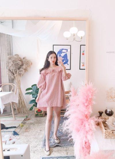 Chân ngắn không sợ với kiểu váy ngắn tay phồng xòe xinh như công chúa