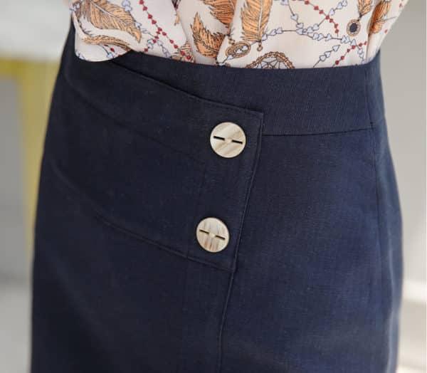 Chân váy ngắn body đắp chéo công sở - F1010CVN - Ảnh 6