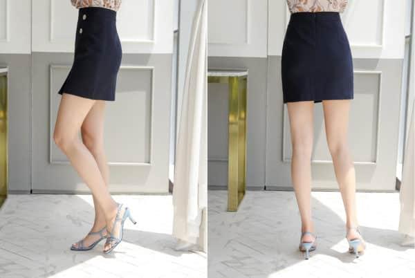 Chân váy ngắn body đắp chéo công sở - F1010CVN - Ảnh 7