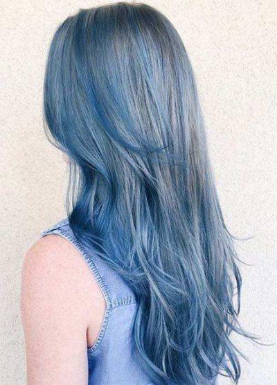 Màu tóc xanh khói khiến bạn thêm trẻ trung cá tính