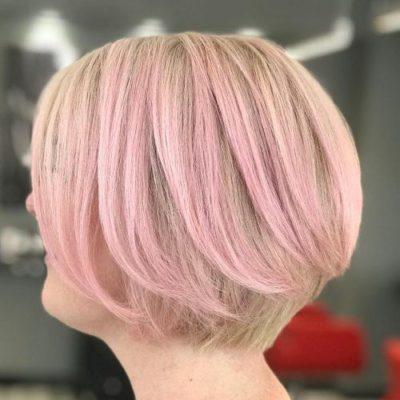 Tóc vàng highlight hồng cực sang chảnh