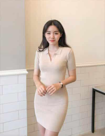 Đầm thun ôm body ngắn, số đông hay diện nó nơi công sở