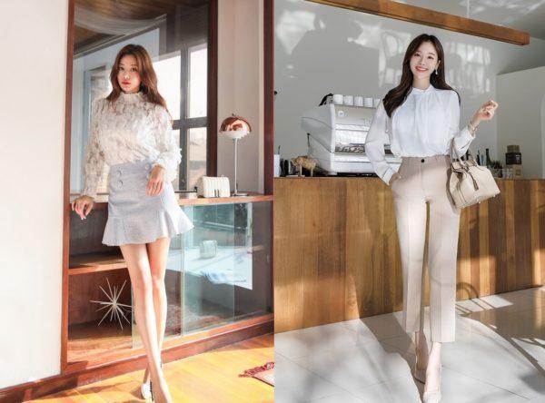 """Thu đến!! 20 kiểu thời trang công sở tôn dáng """"CHUẨN"""" như Sao Hàn"""