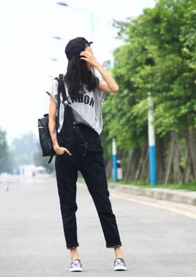Quần yếm và áo full trẻ trung - Ảnh 2