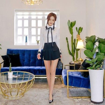 Váy quần công sở thiết kế xếp li - F1000QV - Ảnh 1