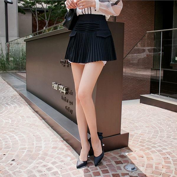 Váy quần công sở thiết kế xếp li - F1000QV - Ảnh 2