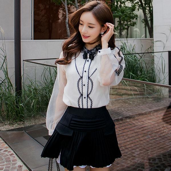 Váy quần công sở thiết kế xếp li - F1000QV - Ảnh 4