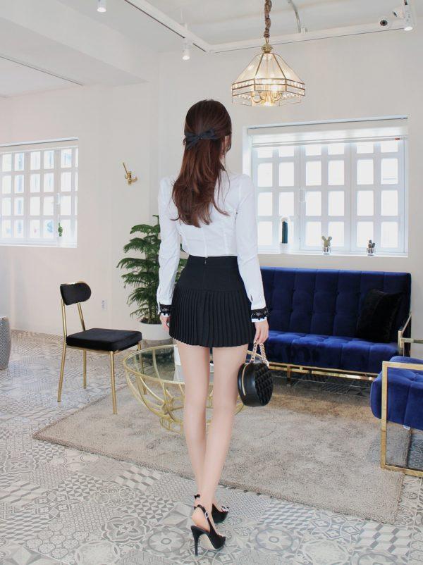 Váy quần công sở thiết kế xếp li - F1000QV - Ảnh 6