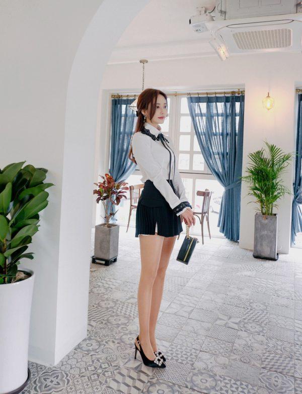 Váy quần công sở thiết kế xếp li - F1000QV - Ảnh 7