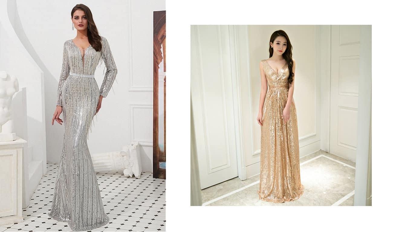 Những mẫu váy dạ hội sang trọng cho quý cô đi dự tiệc