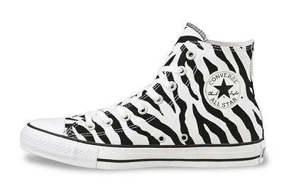 Giày Converse nữ All Star Print Black White - Màu trắng đen họa tiết