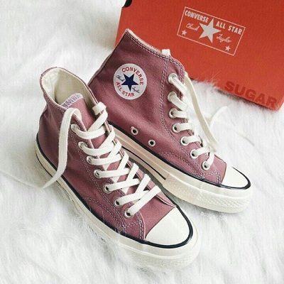 Giày Converse Chuck II Two Tone Leather - Màu hồng