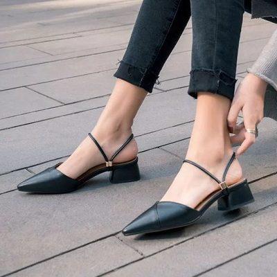11 Kiểu giày đế thấp dành riêng cho chị em văn phòng - Ảnh 2