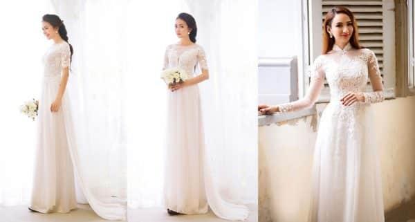 7 Mẫu áo dài cưới đẹp nhất 2019 hiện đại, quý phái