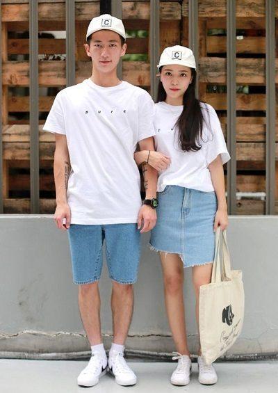 Áo thun và jean short