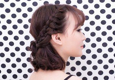Mẹo tết tóc ngắn dễ thương đẹp nhất năm 2020 - Kiểu 16