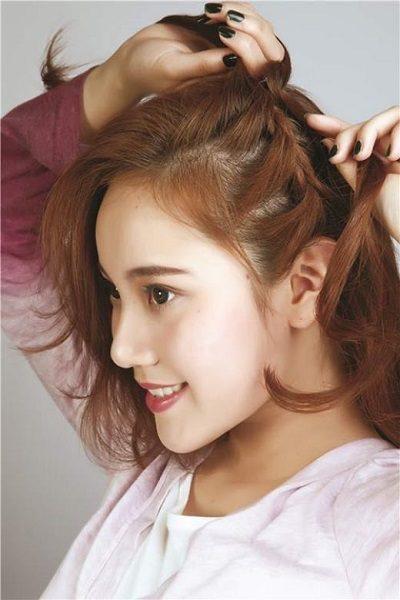 Mẹo tết tóc ngắn dễ thương đẹp nhất năm 2020 - Kiểu 18