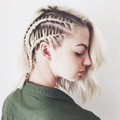 Mẹo tết tóc ngắn dễ thương đẹp nhất năm 2020 - Kiểu 19