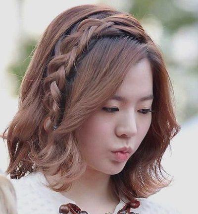 Mẹo tết tóc ngắn dễ thương đẹp nhất năm 2020 - Kiểu 22