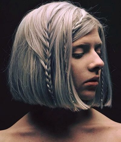 Mẹo tết tóc ngắn dễ thương đẹp nhất năm 2020 - Kiểu 28