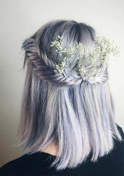 Mẹo tết tóc ngắn dễ thương đẹp nhất năm 2020 - Kiểu 34