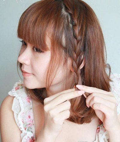 Mẹo tết tóc ngắn dễ thương đẹp nhất năm 2020 - Kiểu 5