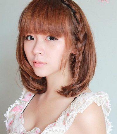 Mẹo tết tóc ngắn dễ thương đẹp nhất năm 2020 - Kiểu 6
