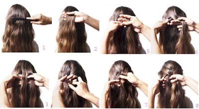 Tự tết tóc đuôi sam