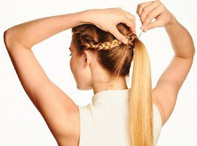 Tết tóc mái đuôi ngựa bước 4