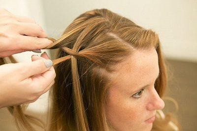 Tự tết tóc thác nước - Ảnh 4
