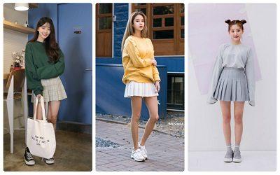 Phối chân váy tennis với áo Sweater/Hoodie - Ảnh 1
