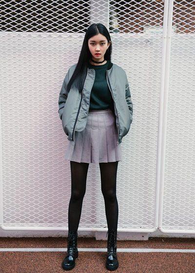 Phối chân váy tennis với áo khoác - Ảnh 4