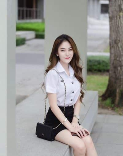 Đồng phục nữ sinh Thái Lan: Áo sơ mi váy ngắn siêu xinh - Ảnh 5
