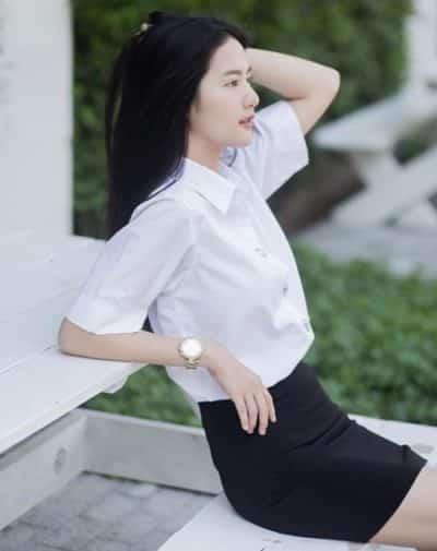 Đồng phục nữ sinh Thái Lan: Áo sơ mi váy ngắn siêu xinh - Ảnh 6