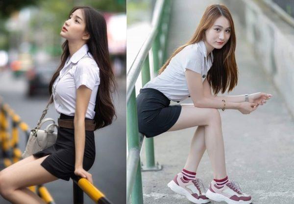Đồng phục nữ sinh Thái Lan: Sơ mi váy ngắn siêu xinh
