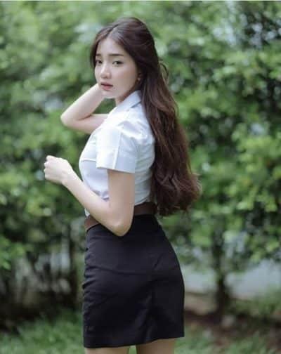 Đồng phục nữ sinh Thái Lan: Áo sơ mi váy ngắn siêu xinh - Ảnh 9